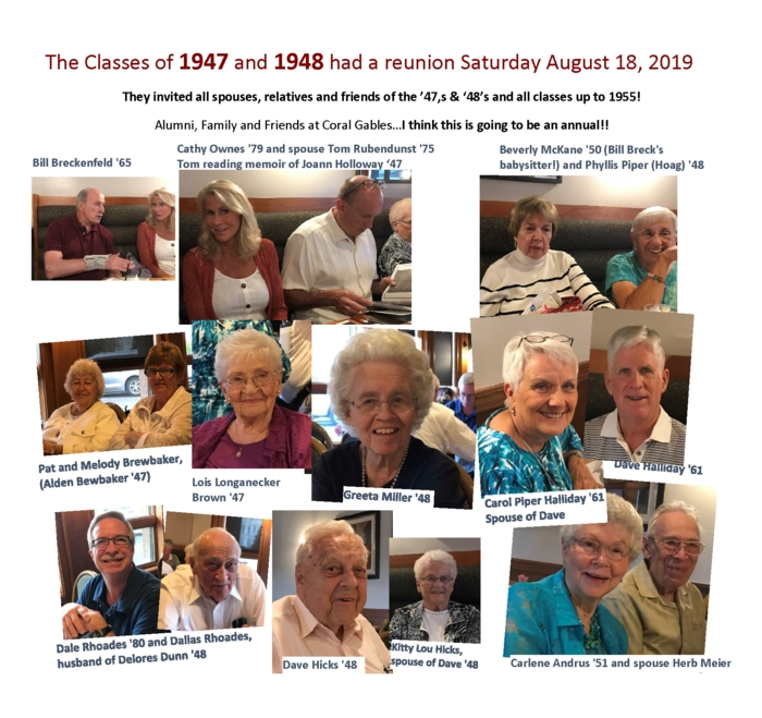 1947 and 1948 Reunion Collage 2019